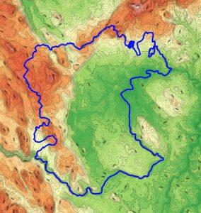 Prikaz površja Bele krajine