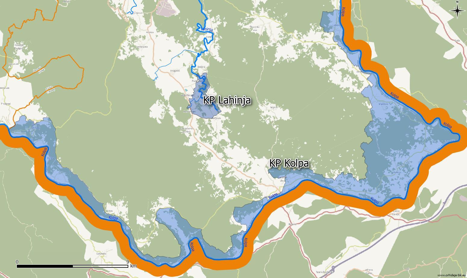 Krajinski park Lahinja in krajinski park Kolpa.