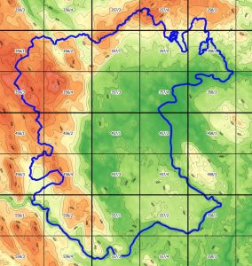 Mreža MTB kvadrantov v Beli krajini